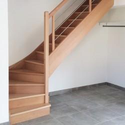 Escalier quart tournant sur-mesure contemporain