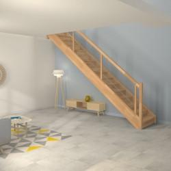 Escalier droit en bois sur-mesure