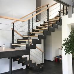 Escalier en métal et bois - Modèle Long Island
