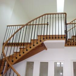 Escalier et garde-corps de prestige en bois et métal