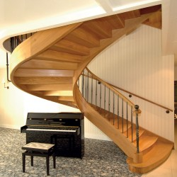 Escalier de prestige sur-mesure en bois