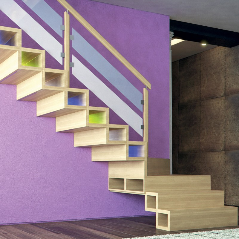 Escalier design en bois - Modèle Hanovre