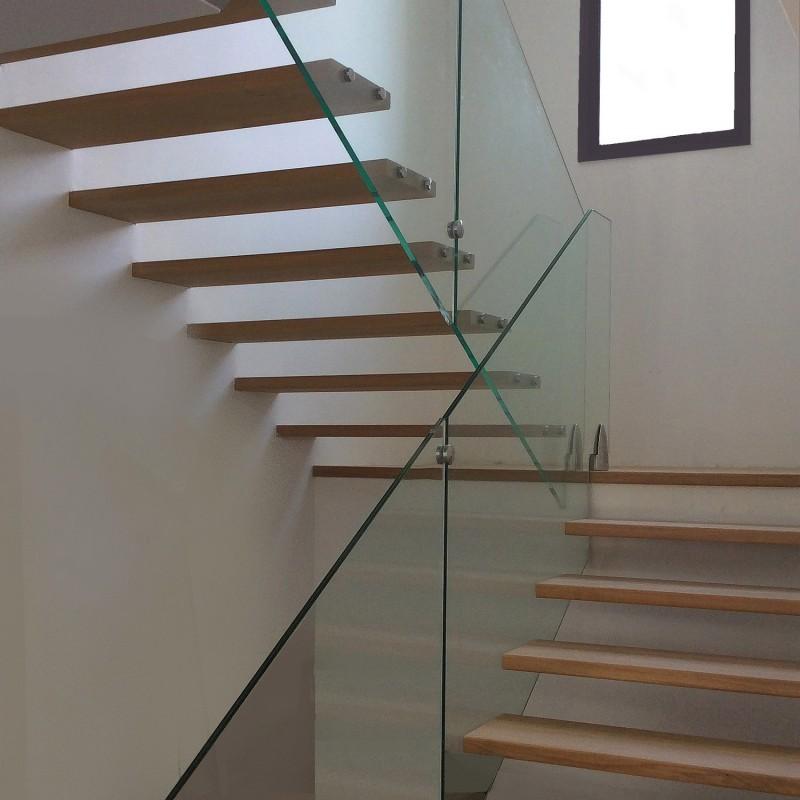 Escalier moderne en bois et verre - Modèle Kafka