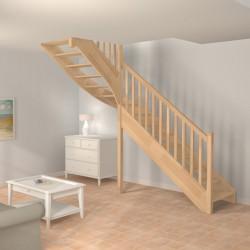 Escalier sur-mesure traditionnel en bois sans contremarche