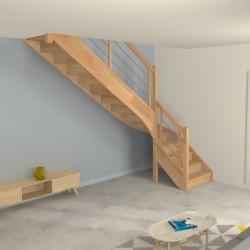 Escalier 1 4 tournant sur mesure avec contremarches