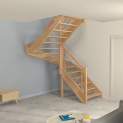 Escalier demi tournant sans contremarche sur-mesure