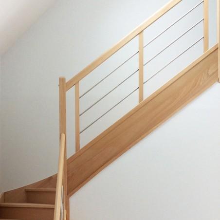 escalier sur mesure en bois et inox pas cher. Black Bedroom Furniture Sets. Home Design Ideas