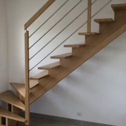 Garde-corps sur-mesure complémentaire pour escalier