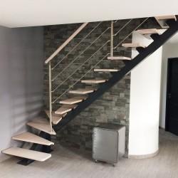 escalier sur mesure en acier en bois très moderne