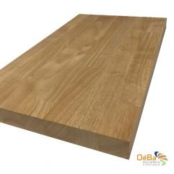 Plan de travail en hévéa bois massif sur mesure