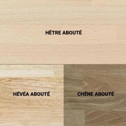 Escalier demi tour en bois : hêtre, chêne, hévéa