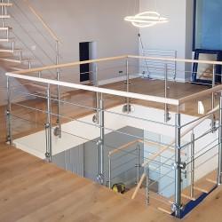 Garde-corps en inox sur mesure pour escalier