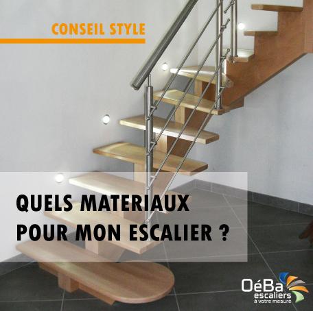 Quels matériaux choisir pour mon escalier sur mesure ?