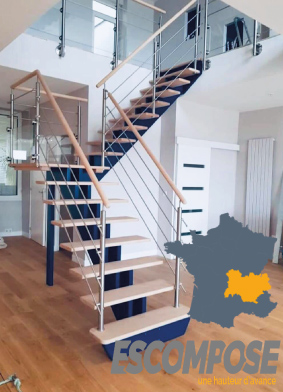 Escompose fabricant d'escaliers Oéba dans le Rhône et les Alpes