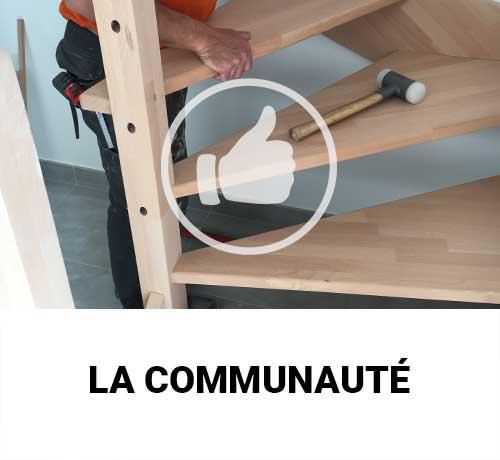 Communauté Oéba : toutes les réalisations et photos d'escaliers posés par nos clients