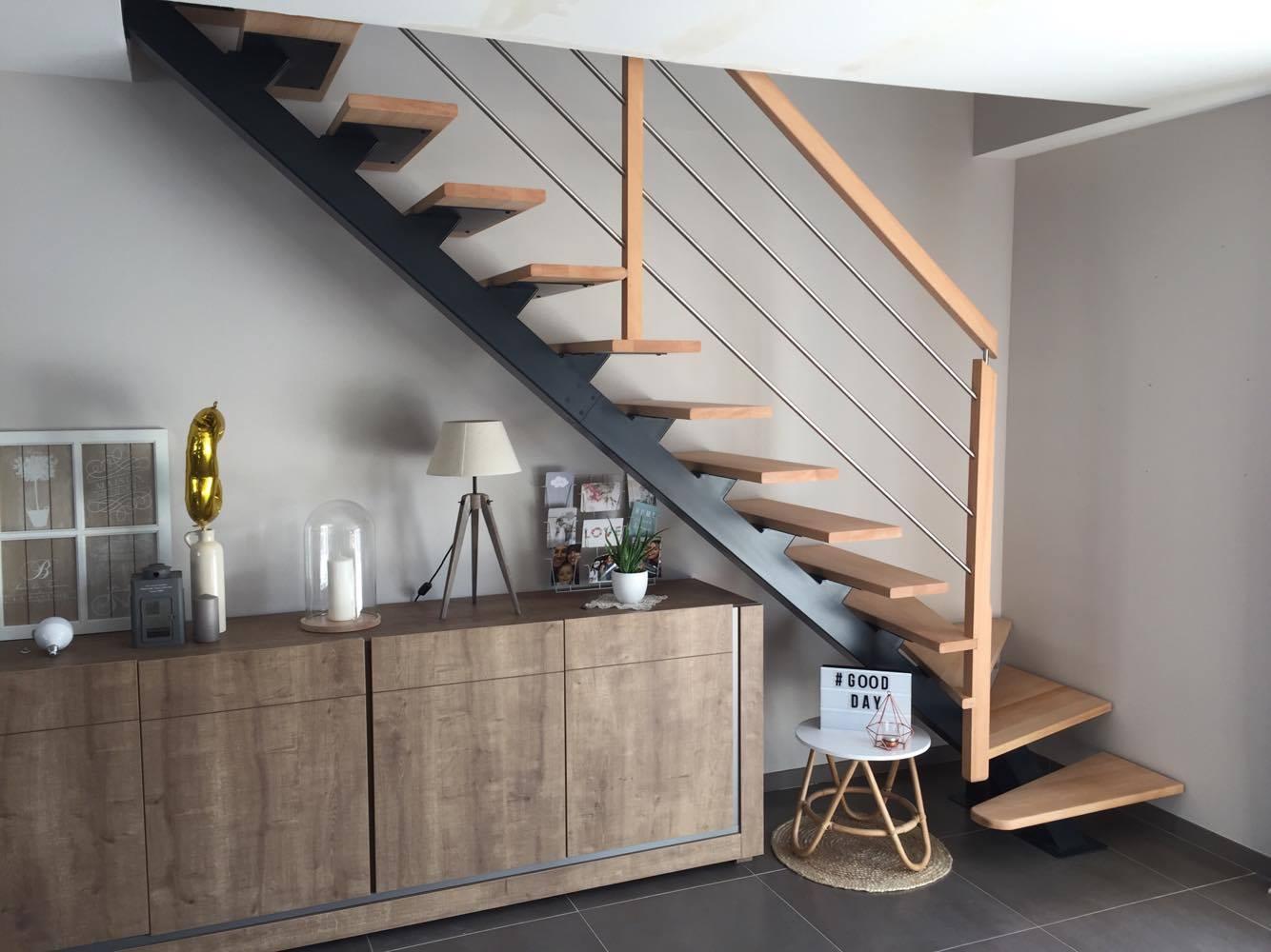 Escalier Bois Metal Noir pourquoi et comment choisir un escalier métal et bois ? | oéba