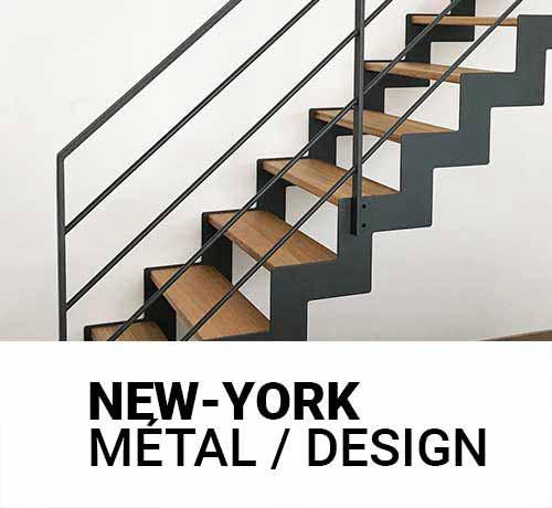 Escalier métal et bois gamme New-York Oéba