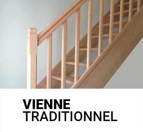 Escalier en bois traditionnel fabrication sur mesure en France par nos menuisiers qualifiés