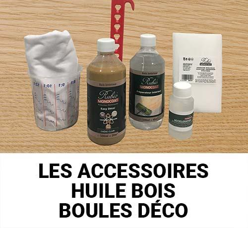 Achetez les accessoires pour escalier : huile pour bois, ou boule décorative