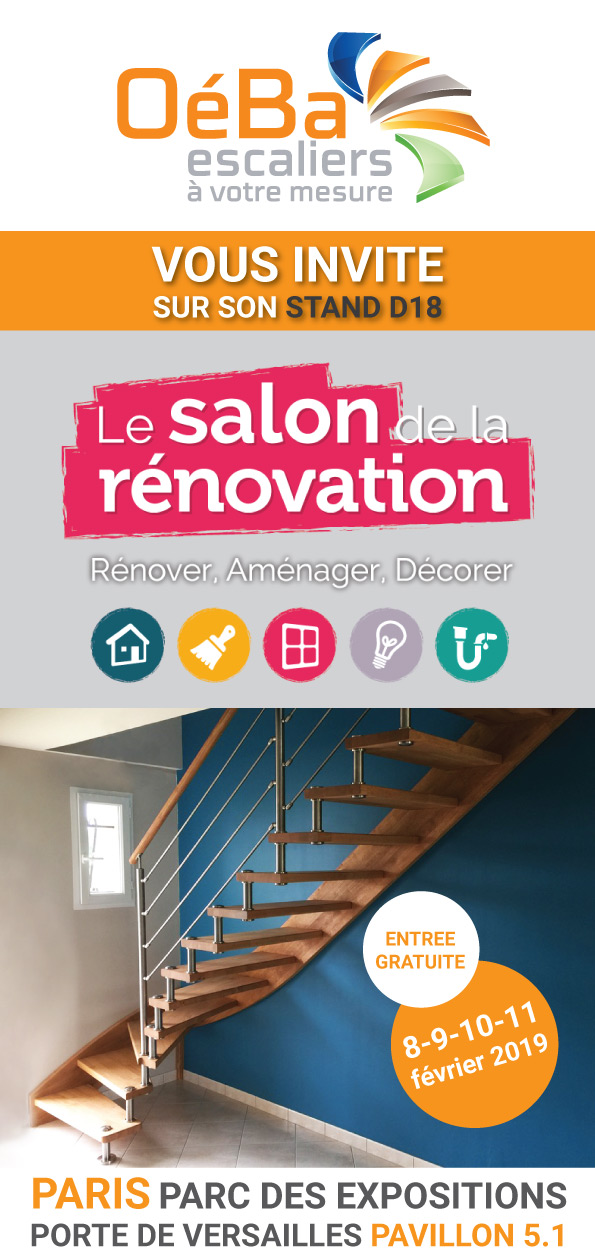 Oéba participe au salon de la rénovation 2019 de Paris